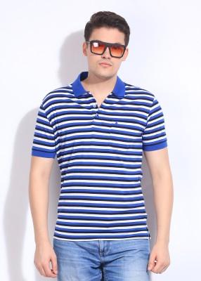 John Players Striped Men's Polo T-Shirt