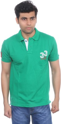 Studio Nexx Solid Men's Polo Green T-Shirt