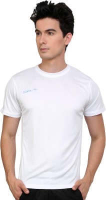 Dida Sportswear Solid Men's Round Neck White T-Shirt