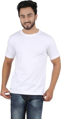 Ocean Race Solid Men,s Round Neck White T-Shirt