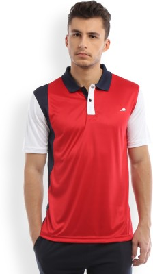 2go Solid Men's Polo Blue, White, Red T-Shirt