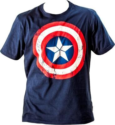 Trendmakerz Graphic Print Men's Round Neck Dark Blue T-Shirt