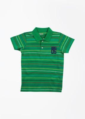 People Striped Boy's Polo Green T-Shirt
