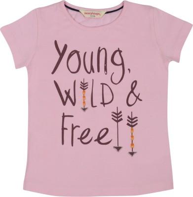 Next Steps Printed Girl's Round Neck T-Shirt