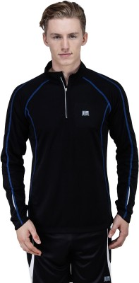T10 Sports Self Design Men's Fashion Neck T-Shirt