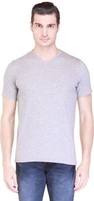 Clst Solid Men's V-neck Grey T-Shirt