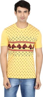Minute Merge Printed Men's Round Neck Yellow T-Shirt
