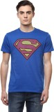 DC Comic Printed Men's Round Neck Blue T...