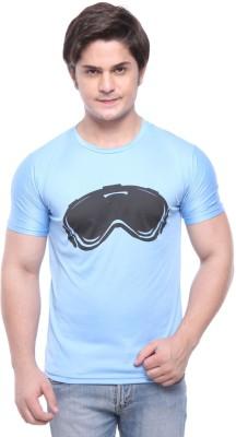 Purys Printed Men,s Round Neck Light Blue T-Shirt