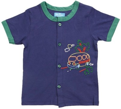 JusCubs Solid Baby Boys Round Neck Light Blue T-Shirt