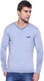 Avenster Sport Striped Men's V-neck Blue...