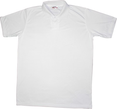 Bainsons Solid Men's Polo White T-Shirt