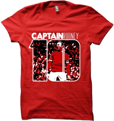 EETEE Printed Men's Round Neck Red T-Shirt