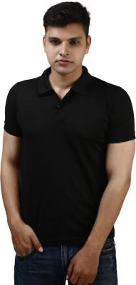 Kraasa Solid Men's Polo Black T-Shirt