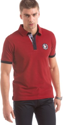 Izod Solid Men's Polo Neck Red T-Shirt