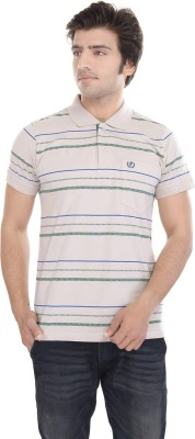 Gaurav Fashion Striped Men's Polo T-Shirt