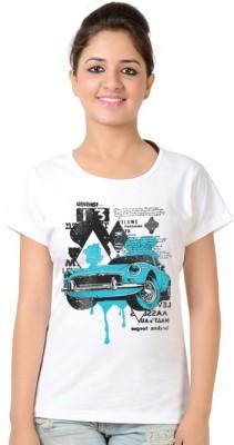 Neevov Printed Women's Round Neck T-Shirt