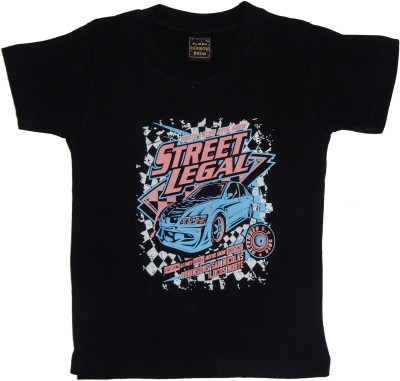 Plipsh Graphic Print Boy's Round Neck T-Shirt