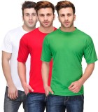 Friskers Solid Men's Round Neck Multicol...