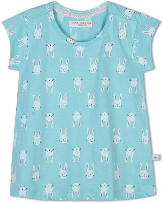 Raine And Jaine T- shirt For Girls(Multicolor)