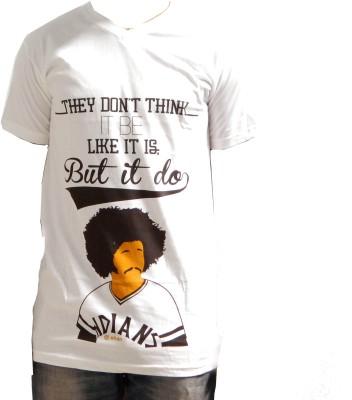Fashion Passion Graphic Print Men's V-neck T-Shirt