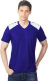 DS WORLD Solid Men's V-neck Blue, White ...