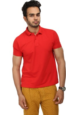 Wear Your Mind Solid Men's Polo Neck Red T-Shirt