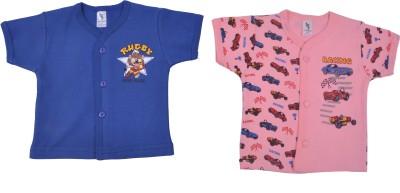 Cucumber Printed Baby Boy's Round Neck Blue, Pink T-Shirt