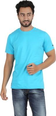 Ocean Race Solid Men,s Round Neck Light Blue T-Shirt