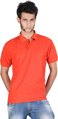 Whistle Solid Men's Polo Neck Red T-Shirt