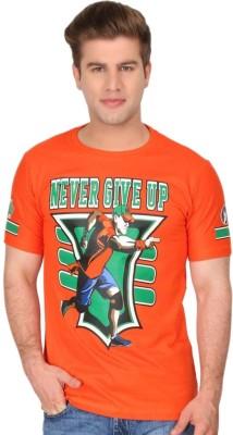 ilyk Printed Men's Round Neck Orange T-Shirt
