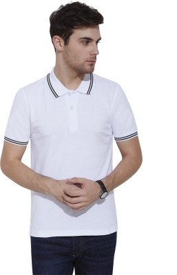Urban Nomad By INMARK Solid Men's Polo Neck White T-Shirt