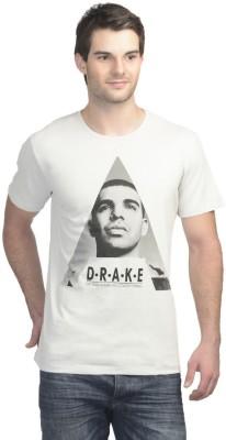 Drake Printed Men's Round Neck Grey T-Shirt