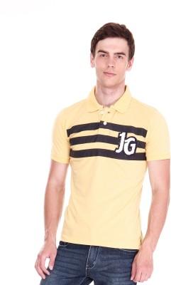 Jogur Striped Men's Polo Yellow T-Shirt