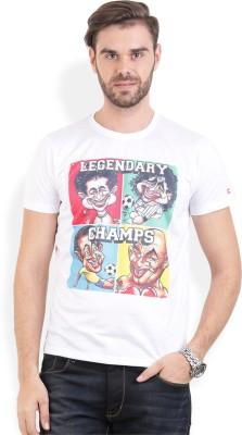 Broken News Printed Men's Round Neck White T-Shirt