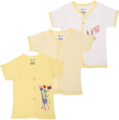 Ohms Printed, Striped Baby Boy's V-neck T-Shirt