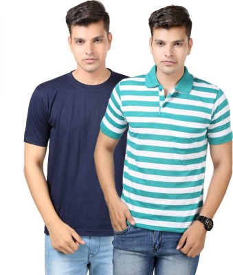 Etoffe Striped Men's Polo Multicolor T-Shirt
