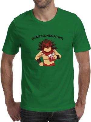 Fanideaz Printed Men's Round Neck Green T-Shirt