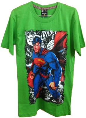 Rools Printed Men's Round Neck Green T-Shirt