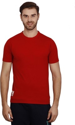 sporty culture Solid Men's Round Neck Red T-Shirt