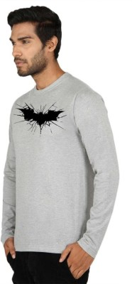 SayItLoud Graphic Print Men's Round Neck Grey T-Shirt