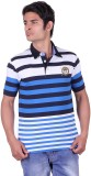 Jayis Striped Men's Polo Neck Blue, Whit...