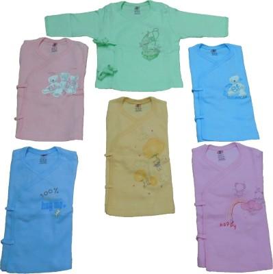 Zero Printed Baby Girl,s, Baby Boy's Round Neck Multicolor T-Shirt