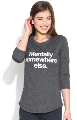 Silly People Graphic Print Women's Round Neck T-Shirt