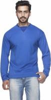 Demokrazy Solid Men's Round Neck Blue T-Shirt