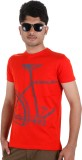 Faraday Printed Men's Round Neck Red T-S...