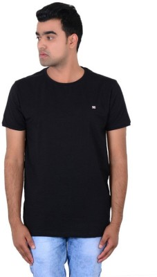 IPG Solid Men's Round Neck Black T-Shirt