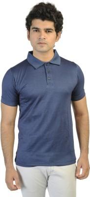 T10 Sports Printed Men's Polo Blue T-Shirt