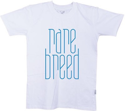 One11 Printed Men,s, Women's Round Neck White T-Shirt