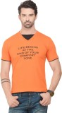 Norwood Printed Men's V-neck Orange T-Sh...